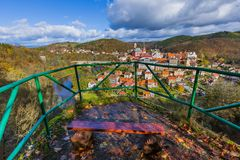 Castelo Loket na república checa Foto de Stock