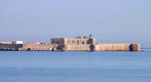Castelo Maniace em Siracusa - Sicília Foto de Stock
