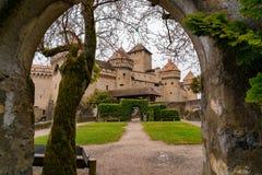 Castelo medieval de Chillon Foto de Stock