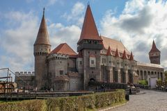 Castelo medieval de Corvin fotos de stock royalty free