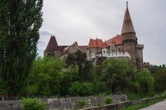 Castelo medieval de Corvin fotos de stock