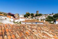 Castelo medieval de Obidos, Portugal fotografia de stock