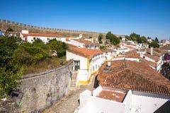 Castelo medieval de Obidos, Portugal fotos de stock