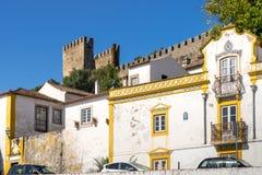 Castelo medieval de Obidos, Portugal imagem de stock