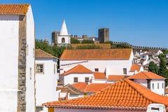 Castelo medieval de Obidos, Portugal fotografia de stock royalty free