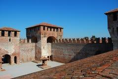 Castelo medieval de Soncino, Italy Fotos de Stock
