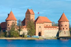 Castelo medieval de Trakai, Vilnius, Lituânia, Europa Oriental fotografia de stock