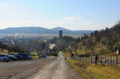 Castelo medieval de Zebrak na república checa Fotos de Stock Royalty Free