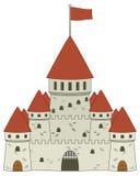 Castelo medieval do conto de fadas Imagem de Stock