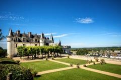 Castelo medieval do de Amboise do castelo, túmulo de Leonardo Da Vinci Loire Valley, França, Europa Local do Unesco imagem de stock