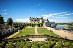 Castelo medieval do de Amboise do castelo, túmulo de Leonardo Da Vinci Loire Valley, França, Europa Local do Unesco fotografia de stock