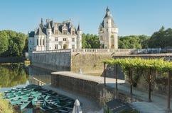 Castelo medieval do castelo de Chenonceau em França Imagens de Stock