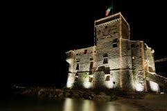 Castelo medieval em Noite Fotografia de Stock Royalty Free
