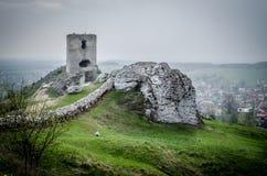 Castelo medieval em Olsztyn, Polônia Fotografia de Stock