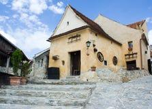Castelo medieval em Romania imagem de stock