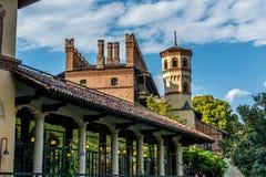 Castelo medieval em Torino, Itália Fotos de Stock Royalty Free