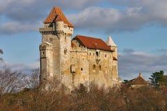 Castelo medieval Liechtenstein em mais baixa Áustria Fotografia de Stock