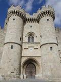 Castelo medieval na ilha do Rodes, Grécia Fotos de Stock