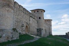 Castelo medieval no sul de França fotos de stock