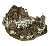 Castelo medieval pequeno Foto de Stock Royalty Free