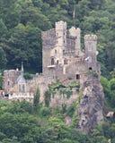 Castelo medieval Rheinstein imagens de stock royalty free
