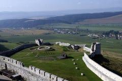 Castelo medieval Spissky Hrad em Eslováquia Imagem de Stock