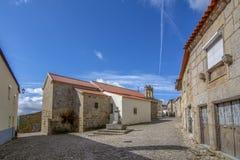 Castelo Mendo, dziejowy wioski inte okręg Guarda P fotografia royalty free