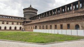 Castelo Milan Italy fotos de stock