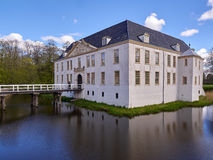 Castelo Moated em Dornum Foto de Stock