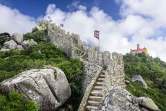 Castelo mouro de Sintra Fotografia de Stock Royalty Free