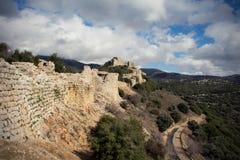 Castelo muçulmano medieval Nimrod Fortress fotografia de stock