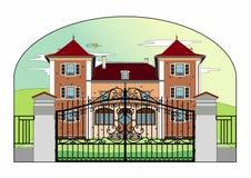 Castelo muito consideravelmente cor-de-rosa Imagens de Stock Royalty Free