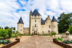 Castelo na área de Loire Valley, França de Rivau imagens de stock