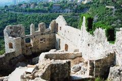 Castelo na Croácia de Rijeka - Gradina de Trsat Imagem de Stock Royalty Free