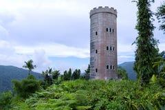 Castelo na floresta úmida foto de stock royalty free