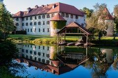 Castelo na ilha Fotos de Stock Royalty Free