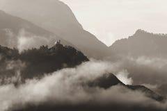Castelo na montanha Foto de Stock