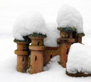 Castelo na neve Imagens de Stock