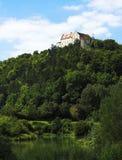 Castelo na parte superior imagens de stock