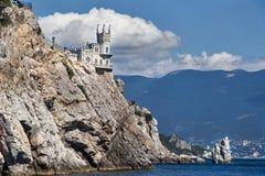Castelo na rocha Foto de Stock Royalty Free
