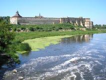 Castelo na vila Medzhybizh em Ucrânia Foto de Stock Royalty Free
