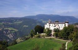 Castelo nas dolomites, Italy Fotos de Stock