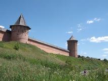 Castelo, natureza, paisagem, parede, pacificação Fotografia de Stock
