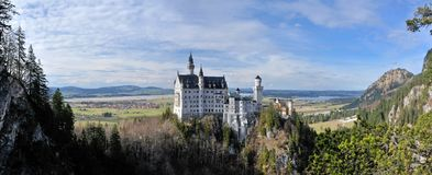 Castelo Neuschwanstein Foto de Stock Royalty Free
