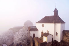 Castelo no inverno - hora de Kuneticka Imagem de Stock Royalty Free