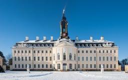 Castelo no inverno, Hubertusburg imagem de stock