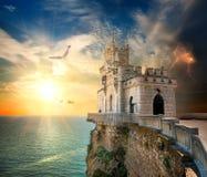 Castelo no mar Fotografia de Stock Royalty Free