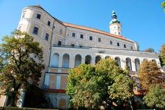 Castelo no mikulov imagens de stock