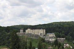 Castelo no monte Fotografia de Stock