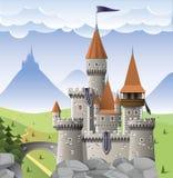Castelo no monte Foto de Stock Royalty Free